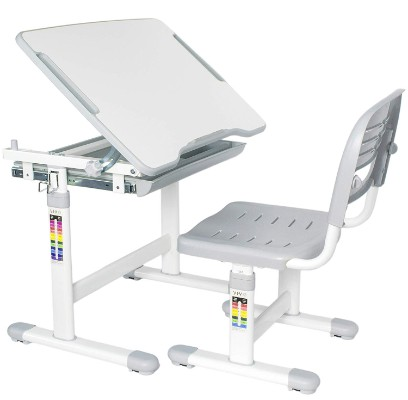 vivo adjustable kids desk grey