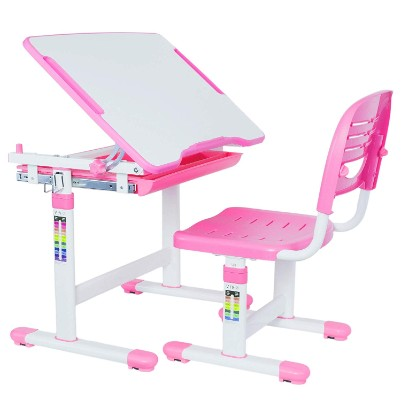 vivo adjustable kids desk pink