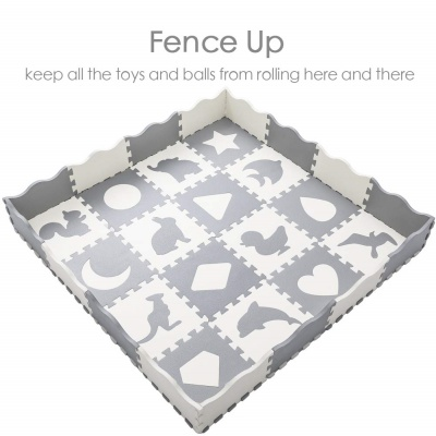 superjare thick baby playmat fence
