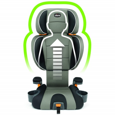 chicco KidFit 2-in-1 high back booster seat 10 positions