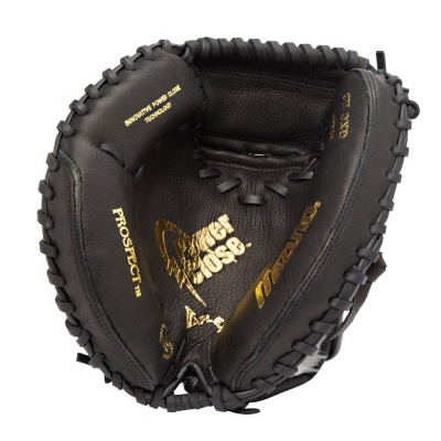 mizuno prospect youth catcher's mitt kids baseball gloves black