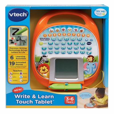 write & learn touch screen tablet for kids package