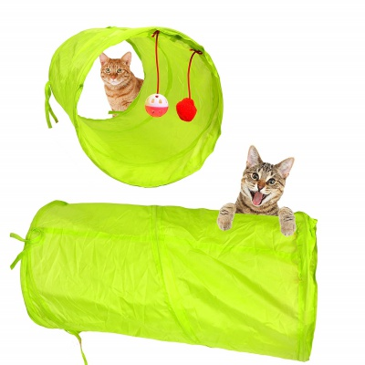 youngever 24 feather teaser cat toy tunnel