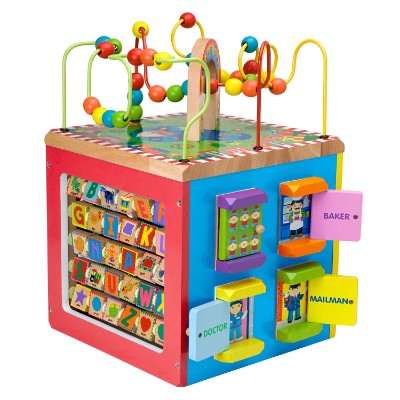 alex discover my busy town cube learning toys for kids and toddlers side view