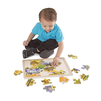 melissa & doug african plains wooden puzzle pieces