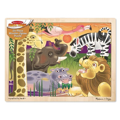 melissa & doug african plains wooden puzzle completed