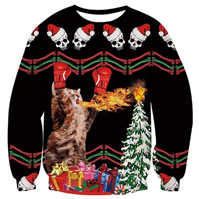 alistyle fanient christmas sweater boxer Cat