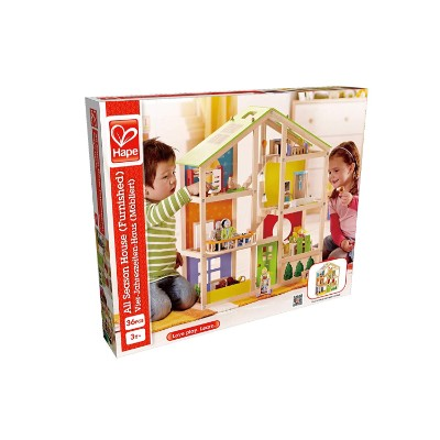 hape all seasons dollhouse wooden toys for kids and toddlers box