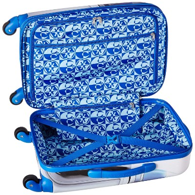 star wars gard side spinner kids luggage set open