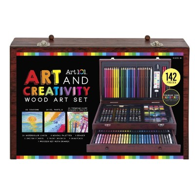 art 101 142-piece wood set gift ideas for teenage girls box