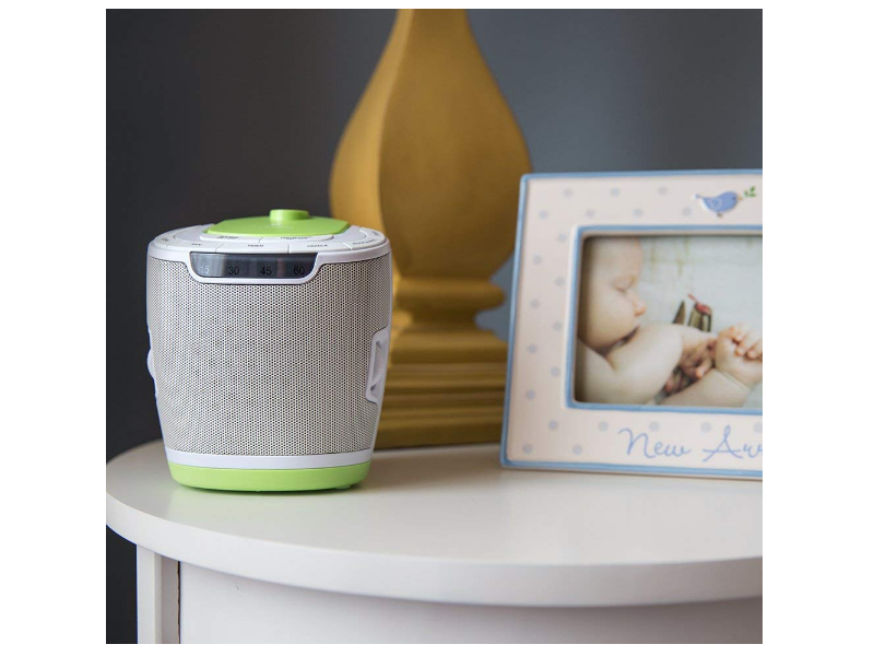 MyBaby SoundSpa has great modern design that can easily fit in any decor.