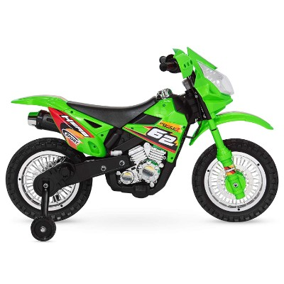 electric kids ride on electric dirt bike for kids side view