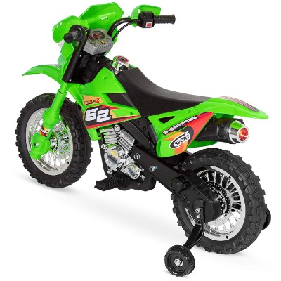 electric kids ride on electric dirt bike for kids back view