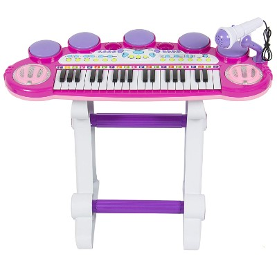 best choice products 37-key kids karaoke machine full display