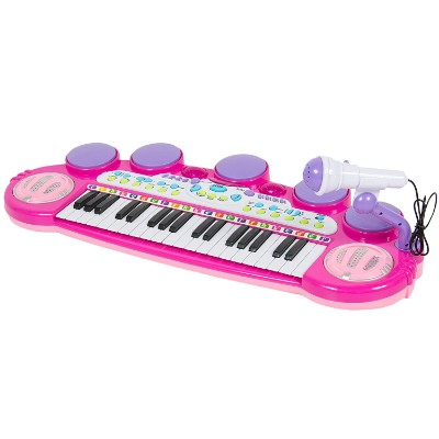 best choice products 37-key kids karaoke machine keyboard