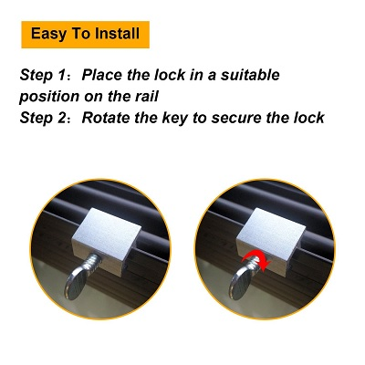 Boao Set of 15 Siding Best Window Locks easy to install