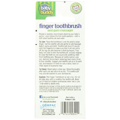 brilliant baby finger massager baby & toddler toothbrush back