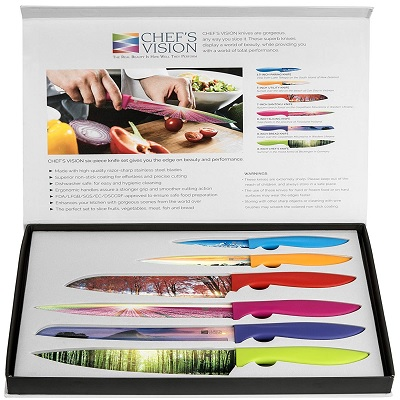 chefs vision landscape knife christmas gifts for mom set of 6