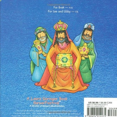 christmas in the manger christmas book back