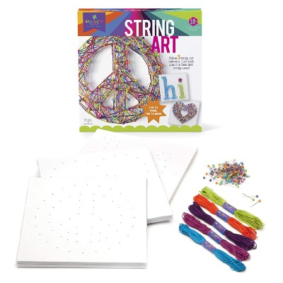 craft-tastic string peace sign art and craft set for kids pieces