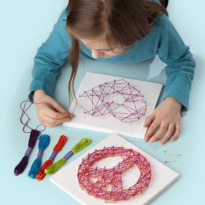 craft-tastic string peace sign art and craft set for kids model