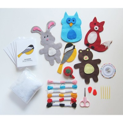 craftster's sewing kits woodland art and craft sets for kids box pieces
