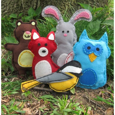 craftster's sewing kits woodland art and craft sets for kids box dolls
