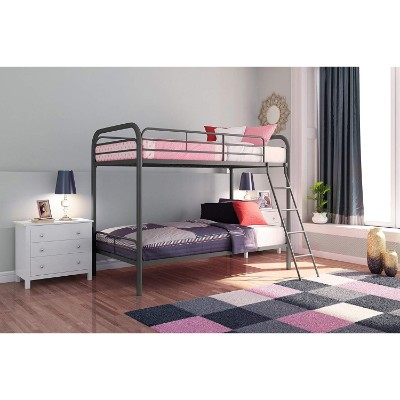 DHP twin-over-twin metal bunk and loft beds for kids room