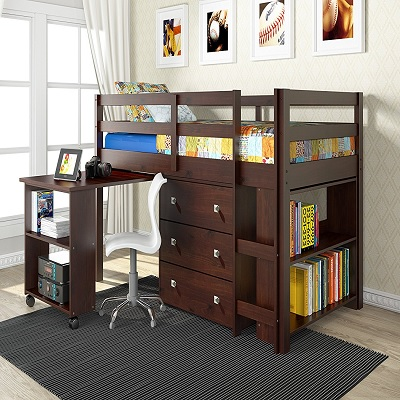 donco dark cappuccino bunk and loft beds for kids