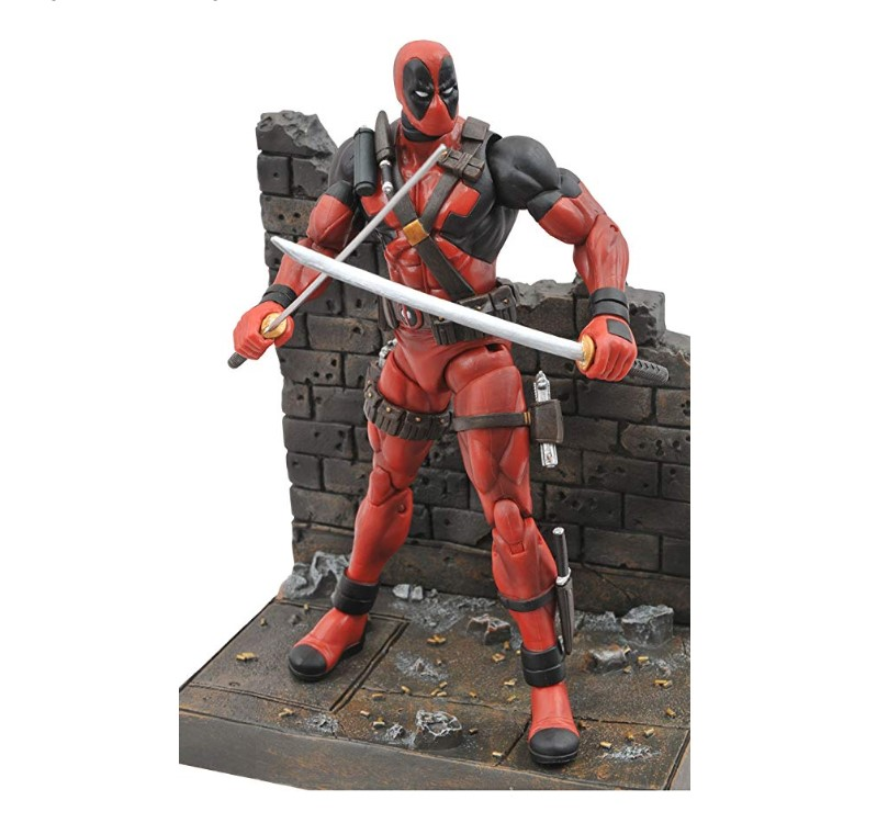 The Diamond Select Toys Marvel Select: Deadpool Action Figure features 16 points of articulation.