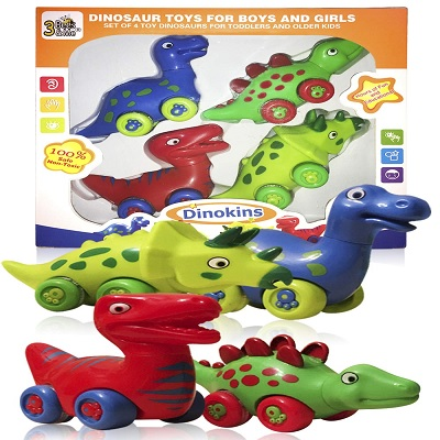 3 bees & me set of 4 dinosaur toys for kids pack