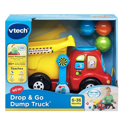 drop & go dump truck car toy package