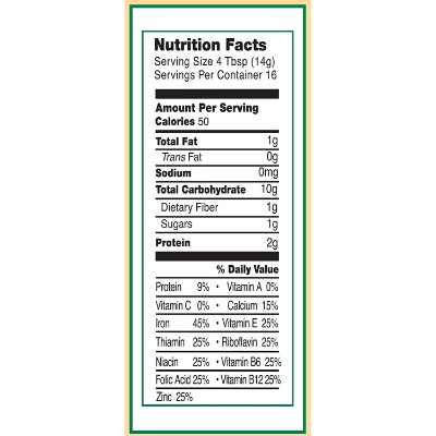 earth's best whole grain organic baby cereal nutrient facts