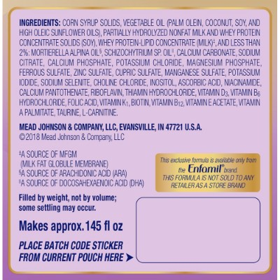 enfamil neuroPro gentlease baby formula ingredients