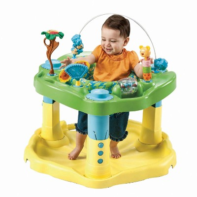 evenflo exersaucer zoo friends baby & infant jumper & bouncer playtime