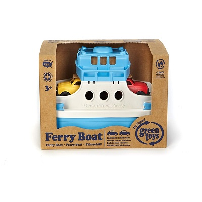green toys ferry boat toy cars package