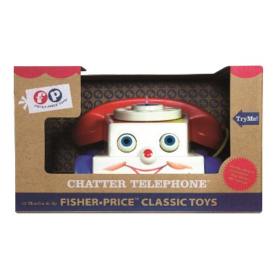 retro chatter phone pull toy for kids pack