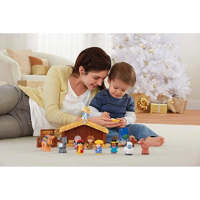 fisher price little people christmas toy figures