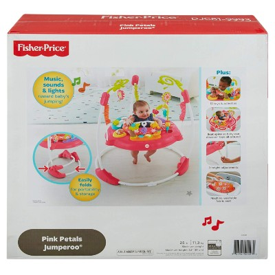 fisher-price pink petals jumperoo infant & baby jumper and bouncer box