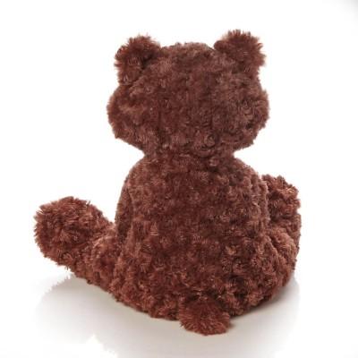 chocolate bear stuffed animal back