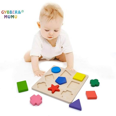 gybber & mumu preschool wooden puzzle child playing