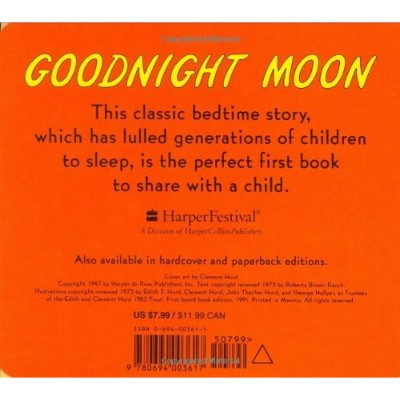 goodnight moon book for 3 year olds back