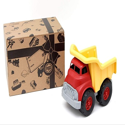 green toys dump truck toy car box