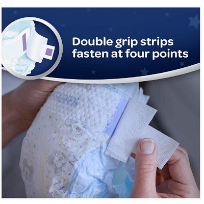 huggies big pack overnight diaper double grip strips