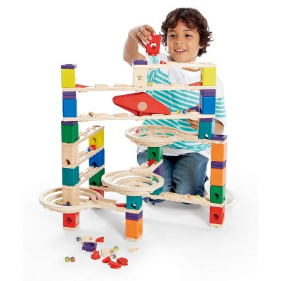 quadrilla wooden marble runs for kids playing