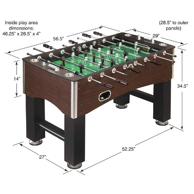 warrior professional foosball table dimensions
