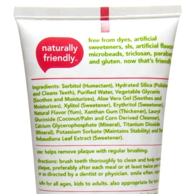 hello oral care fluoride free watermelon toddler toothpaste ingredients
