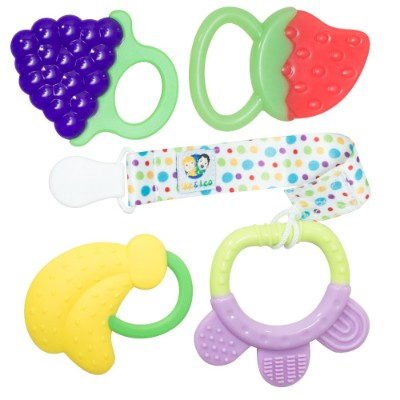 3 Month Old Toys Ike and Leo Teething 4-Pack