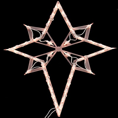 lighted star christmas decor