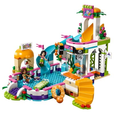 friends heartlake summer pool cool lego set for kids pieces